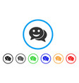 happy chat rounded icon vector image vector image