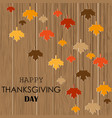 happy holidays thanksgiving greeting card design vector image