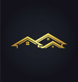 home realty business company gold logo vector image