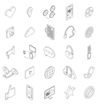 Internet icons set isometric 3d style vector image