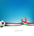 italian and mexican flag set with soccer ball vector image vector image