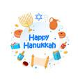 jewish holiday hanukkah greeting card vector image vector image
