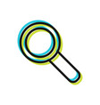 magnifying glass search flat sign and symbol vector image
