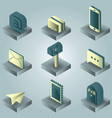 mail color gradient isometric icons vector image vector image