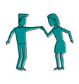 man and woman avatar dancing icon image vector image vector image