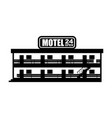 motel icon small cheap hotel vector image vector image