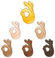 ok hand sign emoji vector image vector image