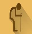 Old man symbol flat long shadow vector image