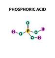 orthophosphoric acid formula of phosphoric acid vector image vector image