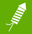 petard icon green vector image vector image