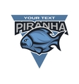 Piranha logo emblem vector image vector image