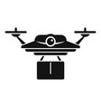 postal drone delivery icon simple style vector image vector image