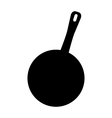 pot icon for frying vector image