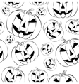 Pumpkin lantern icon in outline style seamless vector image vector image