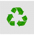 recycle sign isolated transparent background vector image vector image