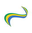 ribbon in the color of the flag of gabon vector image vector image