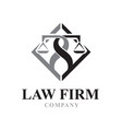 s t law firm logo designs vector image