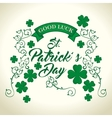 saint patrick day clover vector image