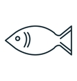 Seafood gastronomy isolated flat icon vector image