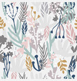 seamless monotone pattern with flowersbranches vector image vector image