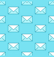 seamless pattern with envelopes flat line icons vector image vector image