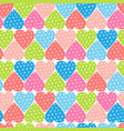 seamless pattern with polka dot hearts vector image
