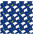 seamless sleeping lambs pattern vector image vector image