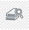 search concept linear icon isolated on vector image