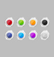 set of colorful transparent buttons vector image
