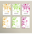 Set of six book covers the background hexagons vector image vector image