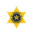 sheriff badge icon vector image