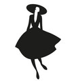 silhouette elegant woman dressed in style vector image vector image