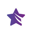 star icon with two swooshes leader winner boss vector image vector image