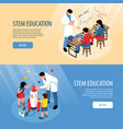 stem horizontal banners set vector image vector image