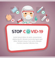 stop covid19-19 red poster vector image