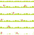 strawberry garden bed seamless pattern vector image vector image