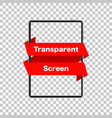 tablet mockup isolated screen tablet transparent vector image