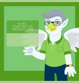 talisman character with wings on green template vector image vector image