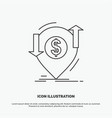 transaction financial money finance transfer icon vector image