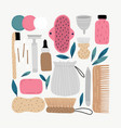 trendy abstract pieces vector image vector image