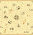 vintage seamless background on theme travel vector image vector image