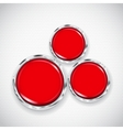 White background with small circles and buttons vector image vector image