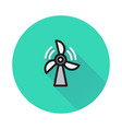 wind power icon on round background vector image