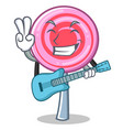 with guitar cute lollipop character cartoon vector image vector image