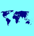 world silhouette in blue vector image