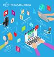 social media in modern mobile devices vector image