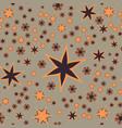 seamless stars print vector image