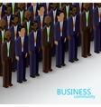 3d isometric of business or politics community a vector image vector image