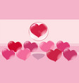 a loving heart flies up in a bubble other hearts vector image vector image