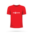 a red t-shirt vector image